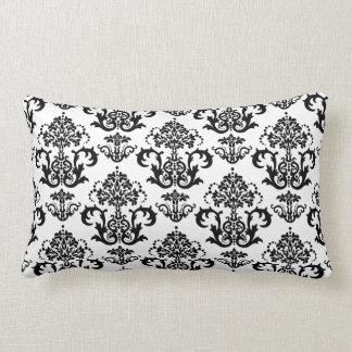Classic Black & White Damask Wallpaper Print Pillow