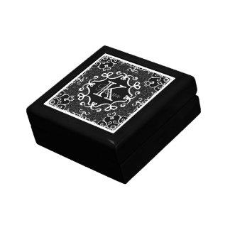 Classic Black white Geometric Pattern Personalize Jewelry Box