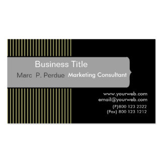 Classic Black White Gray Masculine Corporate Business Cards