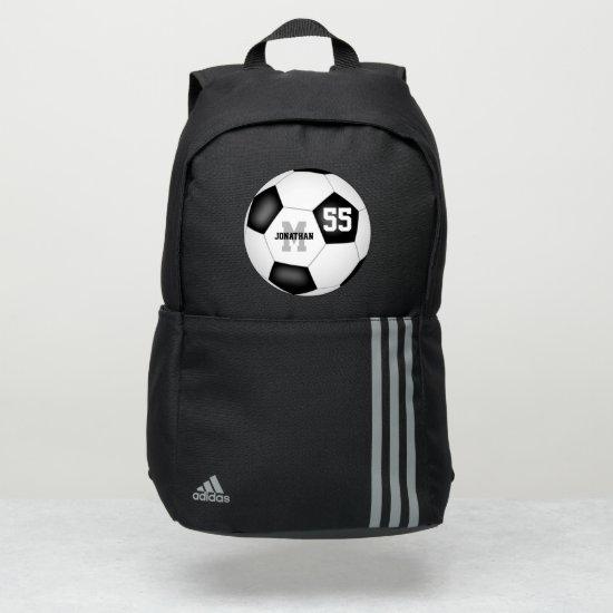 classic black white soccer ball boys or girls adidas backpack
