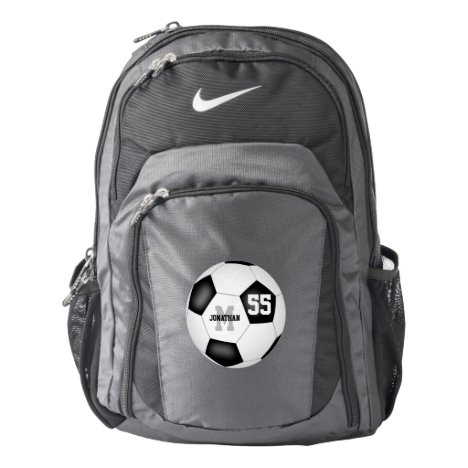 classic black white soccer ball boys or girls backpack