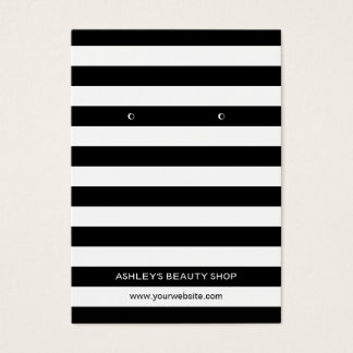 Classic Black White Strips Earring Display Cards
