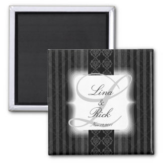 Classic blank & white save the date magnets A011