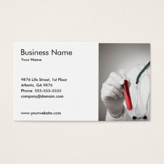 Classic Blood Sample Medical Service Business Card