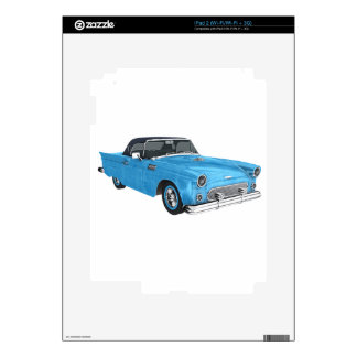 Classic Blue 50s Car Decals For iPad 2