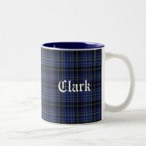 Classic Blue and Black Clan Clark Tartan Plaid Mug