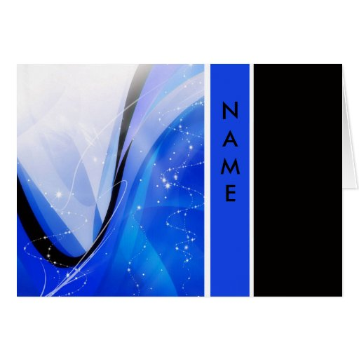 CLASSIC BLUE AND BLACK NOTE CARD TEMPLATE