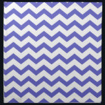"Classic Blue and White Chevrons Cloth Napkin<br><div class=""desc"">Classic blue and white chevron zigzag gift.</div>"