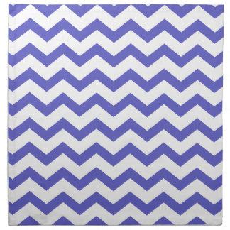 Classic Blue and White Chevrons Cloth Napkin