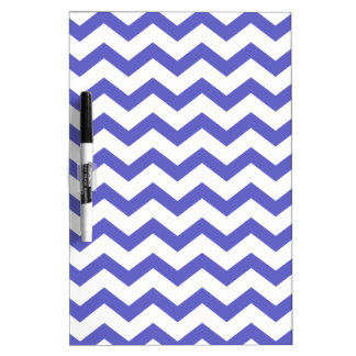 Classic Blue and White Chevrons Dry-Erase Board