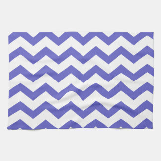 Classic Blue and White Chevrons Towel