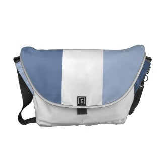 Classic Blue and White Color Block Messenger Bag