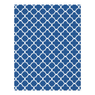 Classic Blue and White Quatrefoil Moroccan Pattern Flyer