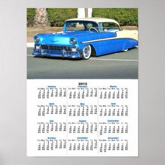 Classic blue car 2012 calendar poster