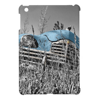 Classic Blue Car Black and White Field Cover For The iPad Mini