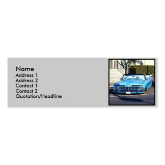Classic Blue Car Business Cards