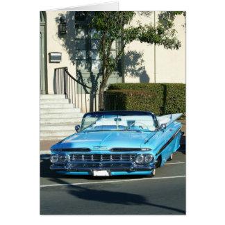 Classic Blue Car Card