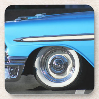 Classic blue car drink coasters