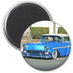 Classic blue car magnet