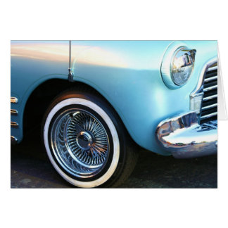 Classic Blue Car Notecard Greeting Cards
