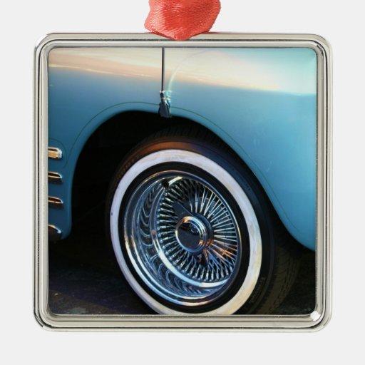 Classic Blue Car ornament