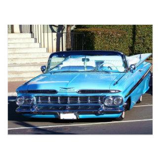 Classic Blue Car Postcard