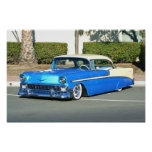 Classic Blue car poster
