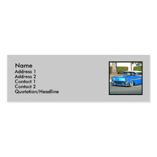 Classic blue car skinny business cards