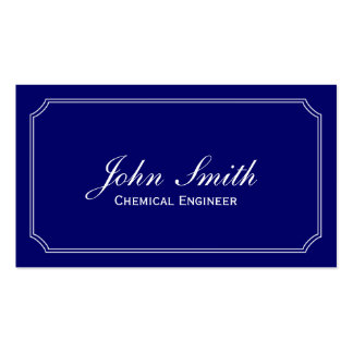 Classic Blue Chemical Engineer Business Card