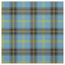 Classic Blue Clan Bell Tartan Plaid Fabric