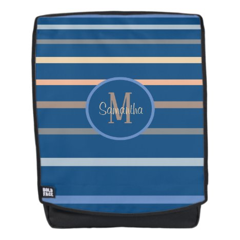Classic Blue Colors Stripe 2020 Color Monogram Backpack