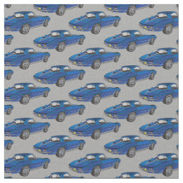 Classic Blue Corvette Design Fabric