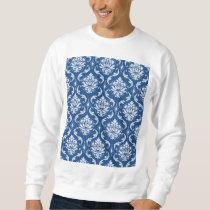 Classic Blue Damask Pattern Sweatshirt