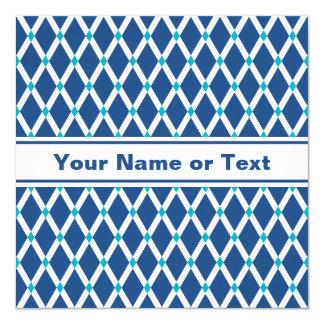 Classic Blue Diamonds-White Frames Invitation