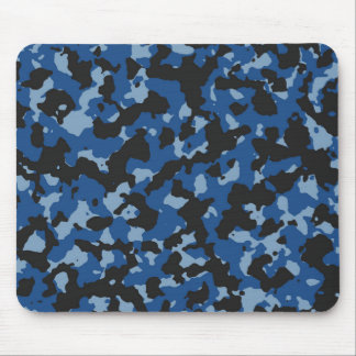 Classic Blue - Dusk Blue Camouflage Pattern Mouse Pad