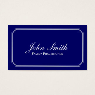 Classic Blue Family Practitioner Business Card