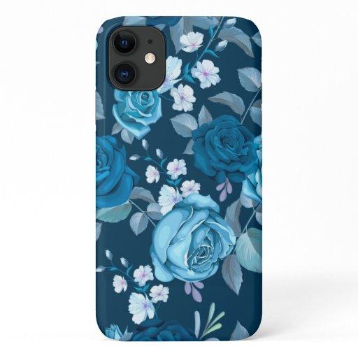 Classic Blue Floral iPhone 11 Case