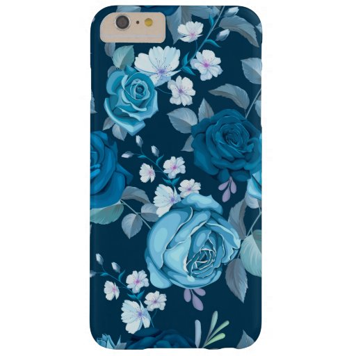 Classic Blue Floral Barely There iPhone 6 Plus Case