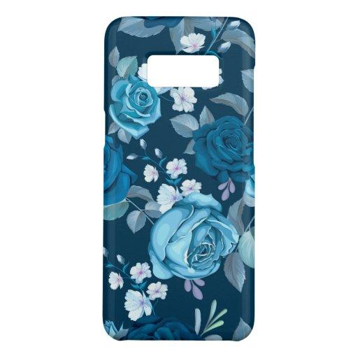 Classic Blue Floral Case-Mate Samsung Galaxy S8 Case