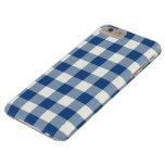 Classic Blue Gingham iPhone 6 Plus Case