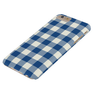 Classic Blue Gingham iPhone 6 Plus Case
