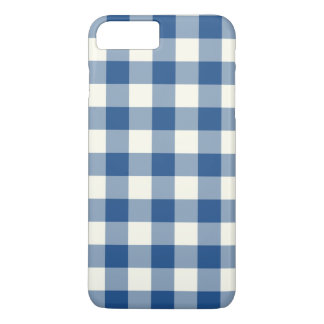 Classic Blue Gingham iPhone 7 Plus Case