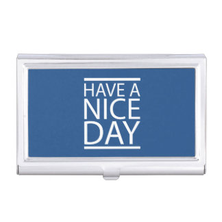 Classic Blue - Have a Nice Day Case For Business Cards
