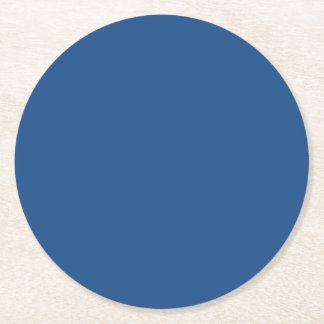 Classic Blue High End Solid Color Round Paper Coaster