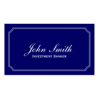 Classic Blue Investment Banker Business Card