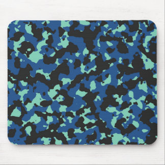 Classic Blue-Lucite Green Camouflage Print Mouse Pad