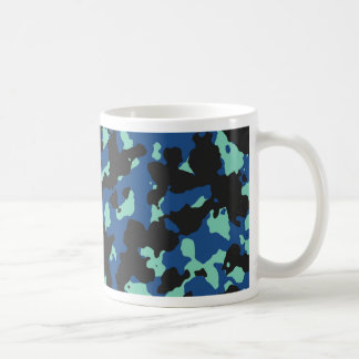 Classic Blue-Lucite Green Camouflage Print Mug