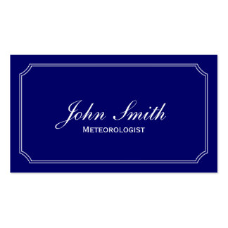 Classic Blue Meteorological Business Card