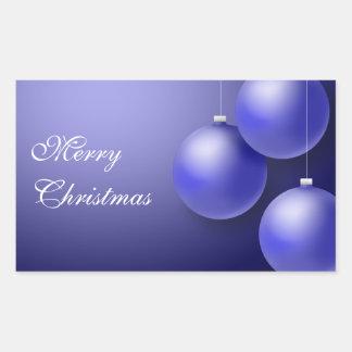 Classic Blue ornaments Rectangular Sticker