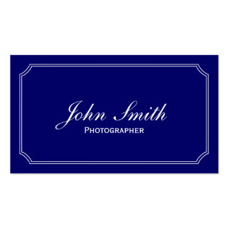 Classic Blue Photographer Business Card